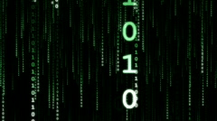 Green Data Stream (Vertical) - stock footage