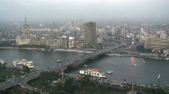 Stock Video Footage of Aerial City View of Cairo, Egypt