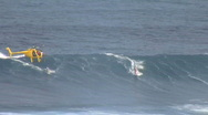 Stock Video Footage of Stand Up Paddleboarder (SU)P drops in @ Jaws