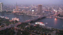 Aerial City View of Cairo, Egypt - stock footage