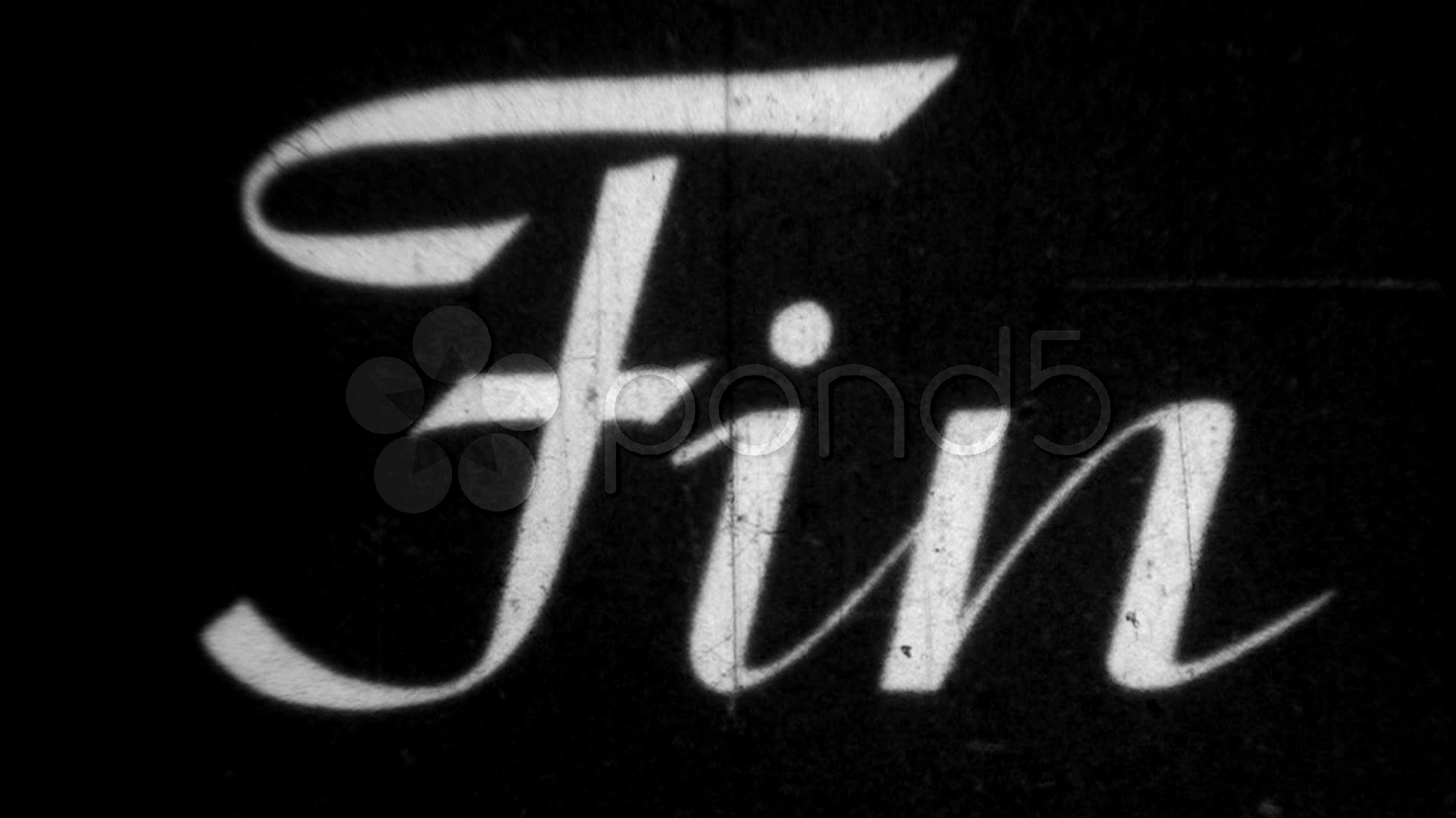 Vintage 8mm Film Tail - The End / fin ~ Stock Video #577205