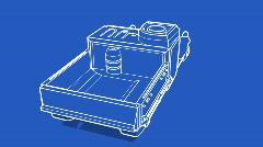 Halftrak blueprint a Stock Footage