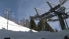Ski elevator Saalbach-hinterglemm Stock Footage