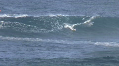 Surfer rides Jaws, huge waves Stock Footage