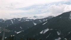 Wintersport landscape  Stock Footage
