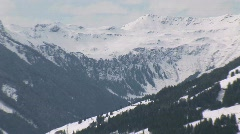 Wintersport landscape zoom-out Stock Footage
