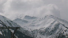 Zoom-out wintersport Stock Footage