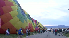 Hot Air Balloons Preperations Stock Footage