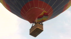 Hot Air Balloon From Bellow Stock Footage