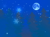 Stock Video Footage of christmas background with snow n trees n flakes