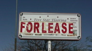 Stock Video Footage of for lease