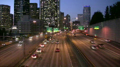 Seattle downtwon highway traffic Stock Footage
