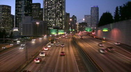 Stock Video Footage of Seattle downtwon highway traffic