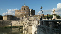 Castel Sant'Angelo. Rome. - stock footage