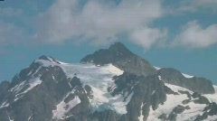 Mt Shuksan and Picture Lake Stock Footage