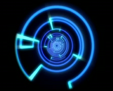 Neon Blue Lines Spin - stock footage
