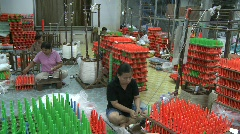 Korat silk weavers Stock Footage