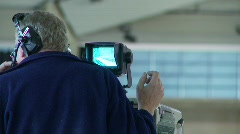 Broadcast TV cameraman at sports event, #2 Stock Footage
