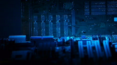 Circuit boards dolly shot 007 30fps - stock footage