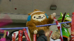 2010 winter olympic mascots Stock Footage