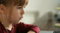 Child with notebook.Sequence - stock footage
