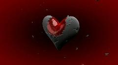 Stone Heart with Amor Arrow - Heart 22 (HD) Stock Footage