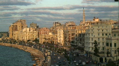 The City of Alexandria, Egypt  Africa Stock Footage