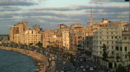 Stock Video Footage of The City of Alexandria, Egypt  Africa