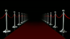 red carpet loop flash - stock footage