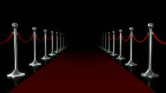 Red carpet loop flash Stock Footage