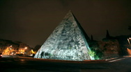 Stock Video Footage of Rome Pyramid timelapse