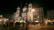 Stock Video Footage of Navona square timelapse