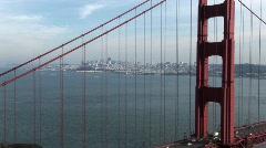San Francisco Through Golden Gate Bridge Stock Footage