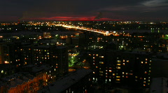 Night view from skyscraper 003 Stock Footage