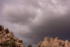 Joshua Tree 03 Time Lapse Storm 30x - stock footage