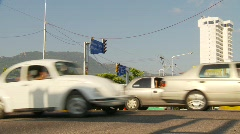 Acapulco traffic, low angle traffic - stock footage
