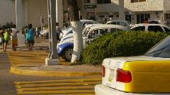 Acapulco traffic, tight on crosswalk - stock footage
