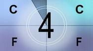 Universal Film Leader Countdown (HD 720) Stock Footage