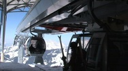 Stock Video Footage of Ski elevator Saalbach-hinterglemm