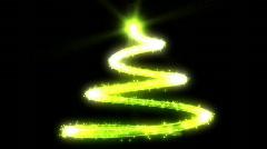 Christmas tree green glow abstract shape Stock Footage
