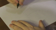 Time Lapse Drawing of a Wooden Chair Stock Footage