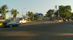 Acapulco traffic along the bay - stock footage