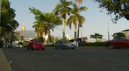 Acapulco traffic, low angle, wide lots of traffic Stock Footage