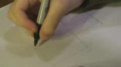 Time Lapse Drawing of a Bed Stock Footage