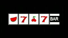 Slot Machine on Black HD1080 Stock Footage