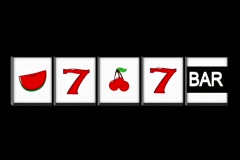 Slot Machine on Black NTSC - stock footage