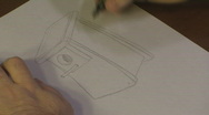 Drawing a Birdhouse Stock Footage