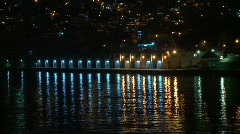 lights reflect on water - stock footage