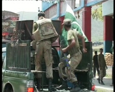 Soldiers in Swat, Pakistan - War on Terror - stock footage