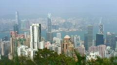 Hong-Kong skyline (timelapse) Stock Footage
